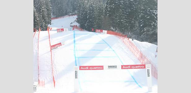 Kandahar-Piste in Garmisch-Partenkirchen bereits präpariert ©XNX GmbH