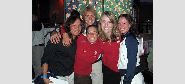 US-Olympiateilnehmer bei Präsident Bush- ©U.S. Ski Team