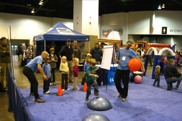 Keep the kids entertained at the Colorado Ski & Snowboard Expo while you pick out your next skis or board. Photo Courtesy of Colorado Ski & Snowboard Expo.