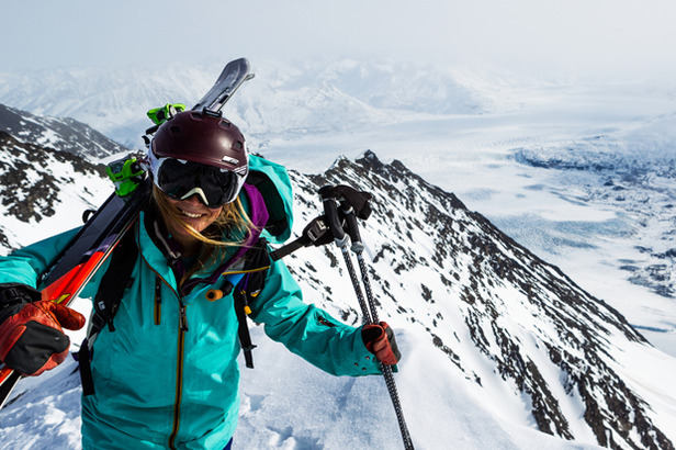 TGR athlete Angel Collinson gets ready to dop in in Alaska