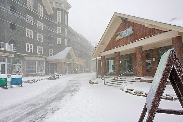 Hurricane Sandy is already starting to dump snow at Snowshoe Resort