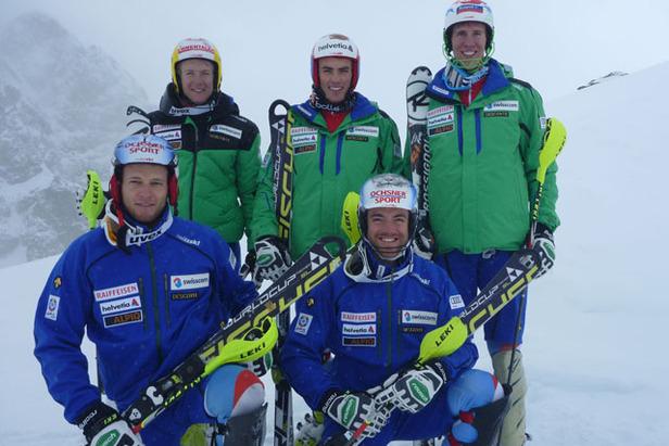 Reto Schmidiger, Daniel Yule, Ramon Zenhäusern, Marc Gini et Markus Vogel.