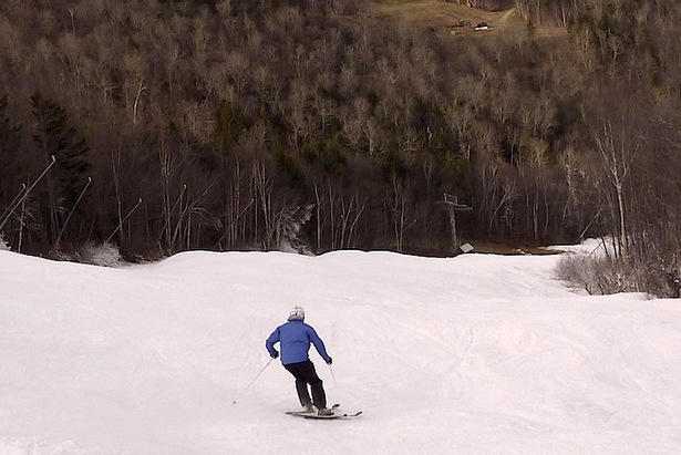 The author, Brian Clark, recently got his first turns of the season at Sunday River on November 16.