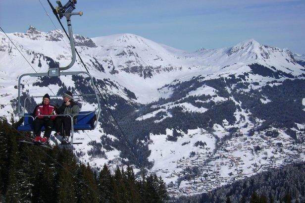 En route vers les pistes de ski des Diablerets