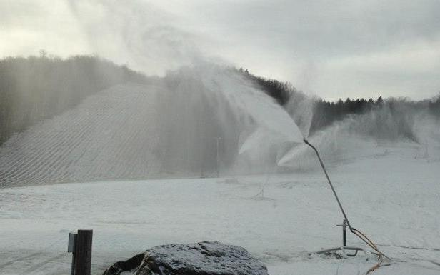 Early Season Snowblowing at Song Mountain. - ©Song Mountain