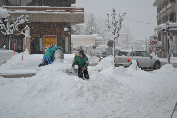 Crans Montana, Schweiz am 17. Dezember