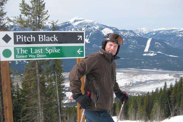 Patrick skiing North America's steepest vertical in Revelstoke  - © Patrick Thorne