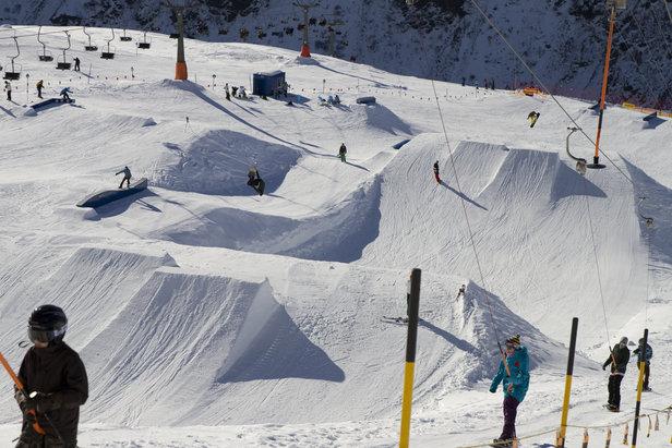 Stanton Snowpark v St. Anton am Arlberg
