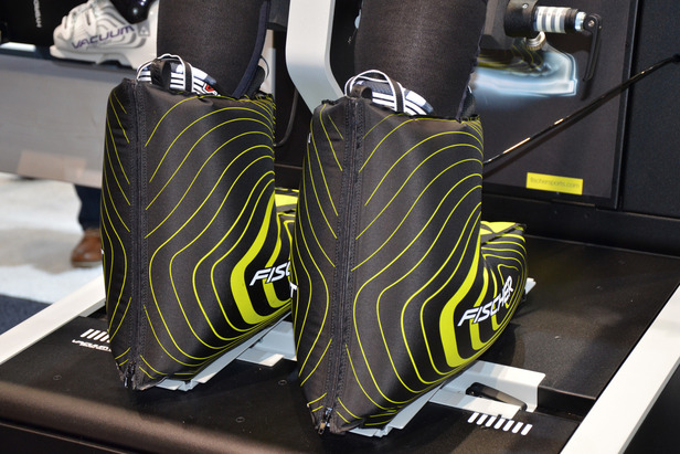 Ski boots in Fischer's new Vacuum Comfort system with cool pads