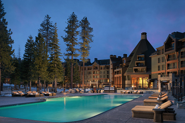 The pool at the Constellation Residences at Northstar, Lake Tahoe, is a favorite attraction with kids and their families.   - © Constellation Residences
