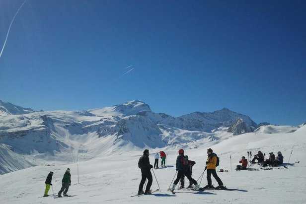 Where is the snow in Europe and North America?- ©Tignes