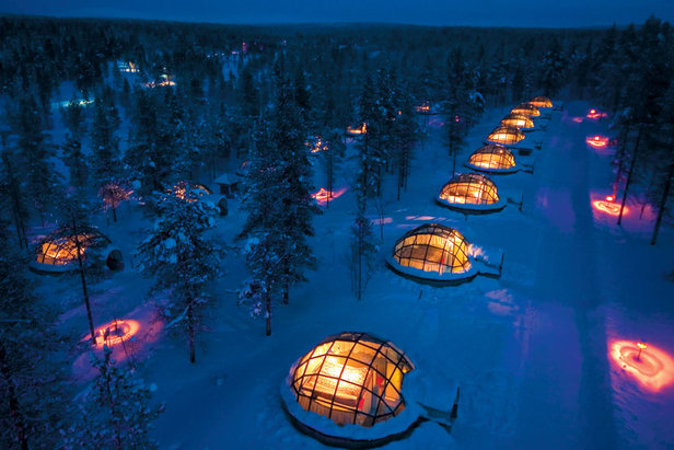 Sleeping on snow: Igloos & luxury pods- ©Kakslauttanen