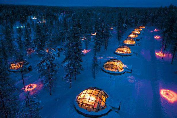 Kakslauttanen - iglu dedinka, Laponsko