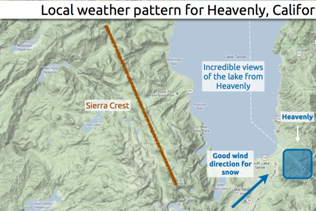 Learn how to predict snowfall totals at Heavenly.  - © OpenSnow.com