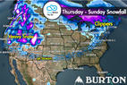 Snow Before You Go: Big Powder West, Lighter Snow Northeast - © Meteorologist Chris Tomer