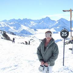 Top of the Sarenne piste, Alpe d'Huez - ©Chris Parker