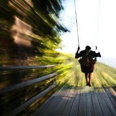 Schaukel ins Nichts am Weg der Wandlungen - ein Gefühl wie Fliegen - ©bergleben.de / Matteo Gariglio