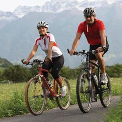 Biker im Vinschgau