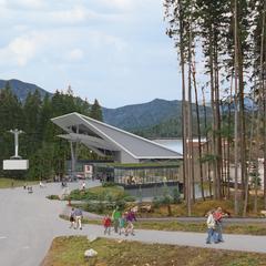 Lanovka Eibsee na Zugspitze - © Bayerische Zugspitzbahn Hasenauer Architekten