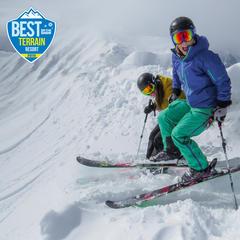 Lake Louise skier stoke