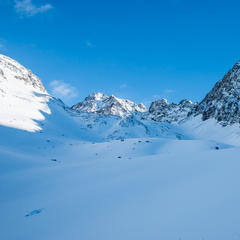 Auf dem Weg zum Schrankogel Skigipfel - © Erika Spengler