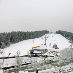 Im Sauerland freute man sich, wie hier in der Wintersportarena, am 23. Februar über etwas Neuschnee - ©Facebook Wintersport-Arena Sauerland