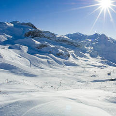 Malebná krajina - Ischgl, Rakúsko