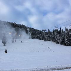 Den første snøen - © Kvitfjell Alpinsenter