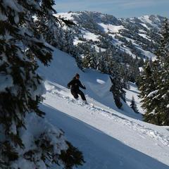 Ski hors piste Lelex - © CRT Franche Comté
