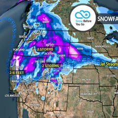 3.15 Snow Before You Go: 2-6 Feet to Whiteout Parts of West - ©Meteorologist Chris Tomer