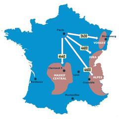 carte TGV vers stations de ski - © Skiinfo