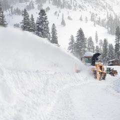 Snowbanks are as tall as street signs at Squaw Valley | Alpine Meadows - © Squaw Valley | Alpine Meadows