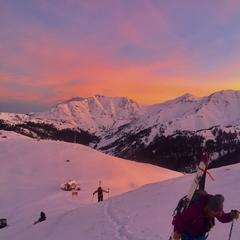 Sunrise hiking at Silverton - © Caleb Leland, courtesy of Silverton Mountain