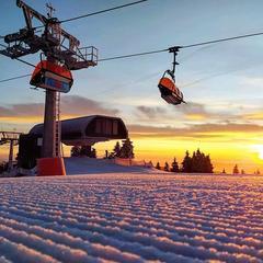 Parádní počasí pro lyžaře na Klínovci (14.1.2020) - © facebook | Skiareál Klínovec