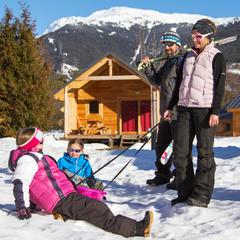 Partir en famille pour les vacances de Février - © Huttopia / Manu Reyboz