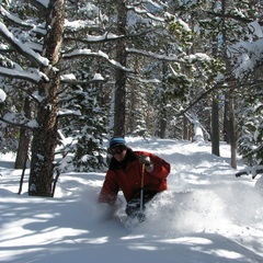George Sharpe tears up the trees at Winter Park Resort