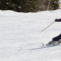Ski Test Director Krista Crabtree getting after it on