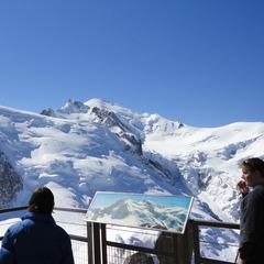 Vue depuis l'une des terrasses de l'Aiguille du Midi - © Compagnie du Mont-Blanc