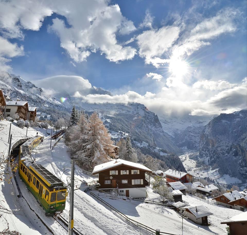 Wengen, Switzerland has one of the oldest railways in Europe.