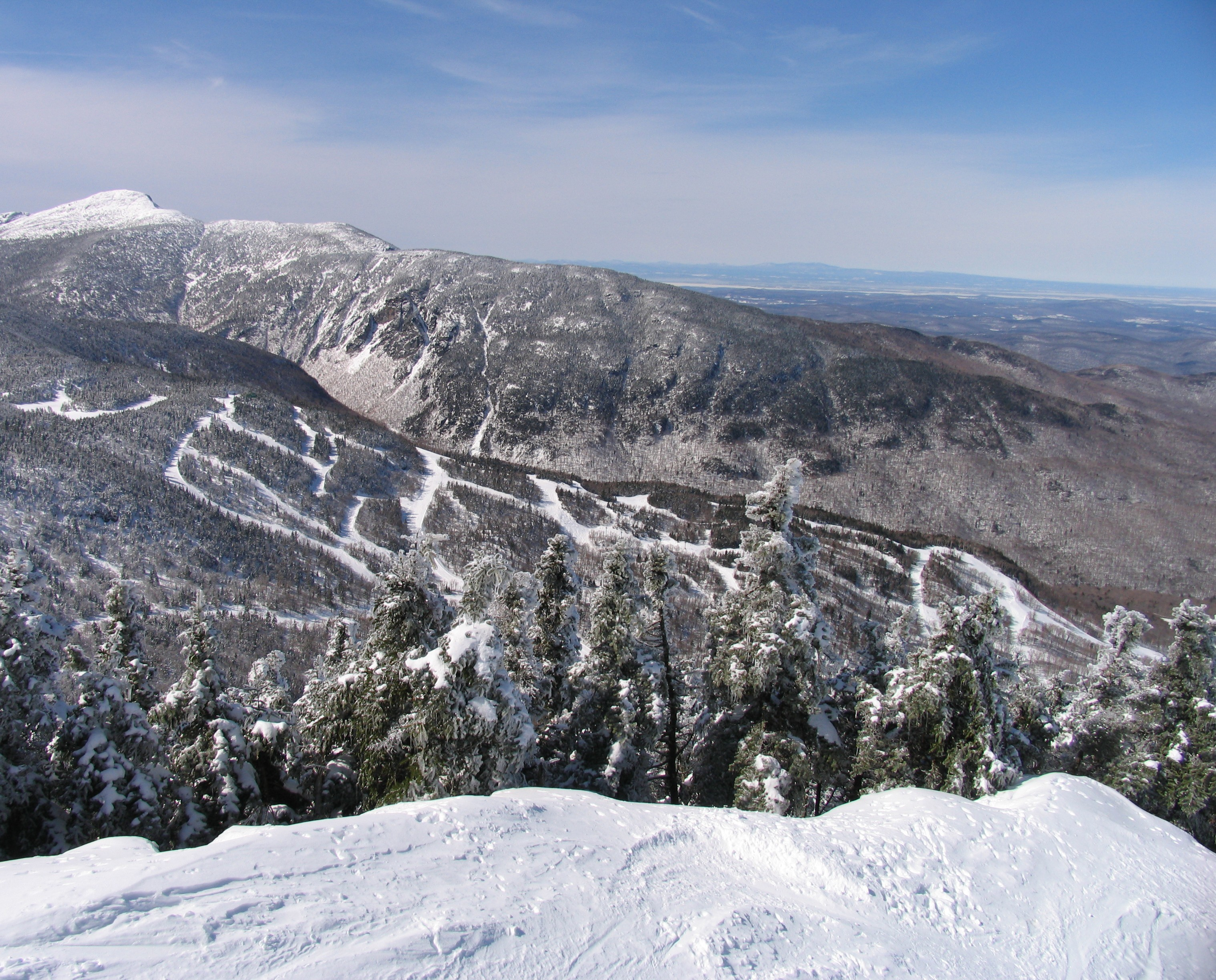 Smugglers Notch view from lift shack