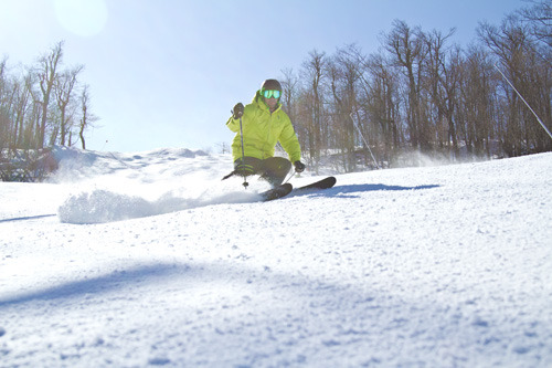 A skier finds a stash of fresh at Windham Mountain. Photo Courtesy of Windham Mountain.